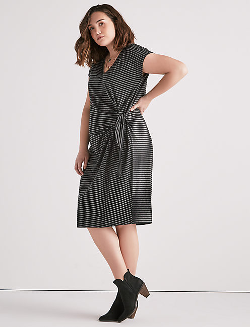Lucky Side Knot Knit Dress