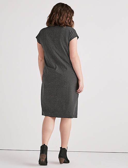 SIDE KNOT KNIT DRESS,