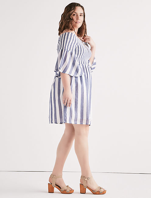 Lucky Stripe Smocked Dress