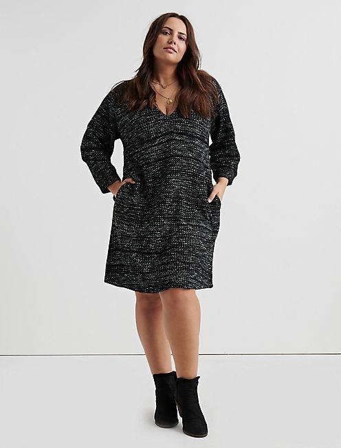 KNIT SHIFT DRESS,