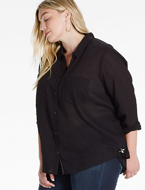 WASHED BUTTON DOWN SHIRT,