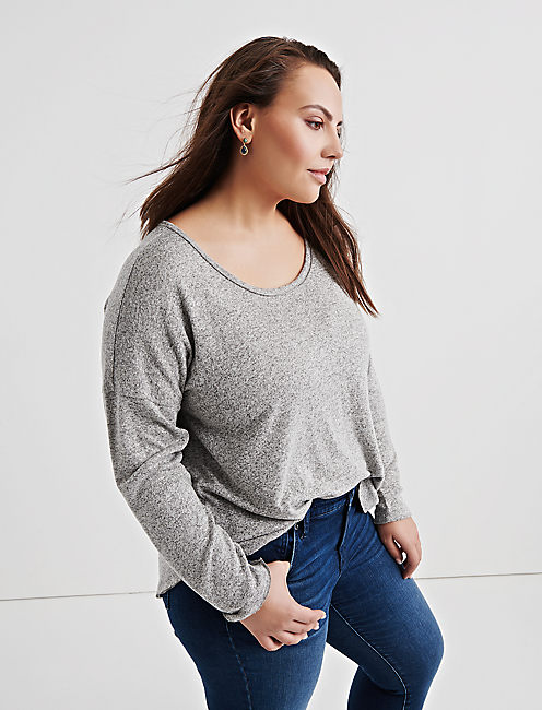 Lucky Seamed Drop Shoulder Top