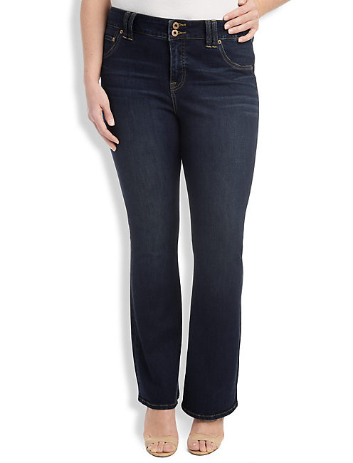 PLUS SIZE EMMA PETITE BOOTCUT JEAN IN GRISSOM,