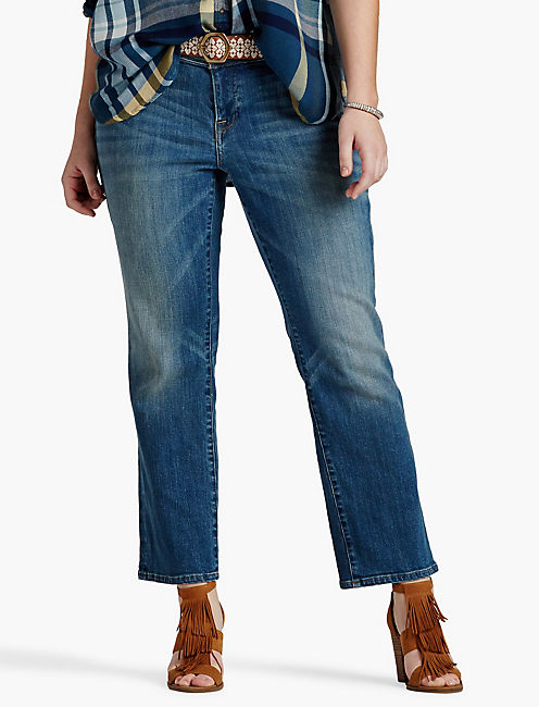 PLUS SIZE GEORGIA PETITE STRAIGHT LEG JEAN IN SARASOTA,