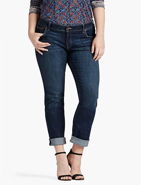 PLUS SIZE GEORGIA PETITE STRAIGHT LEG JEAN IN RAMPART,