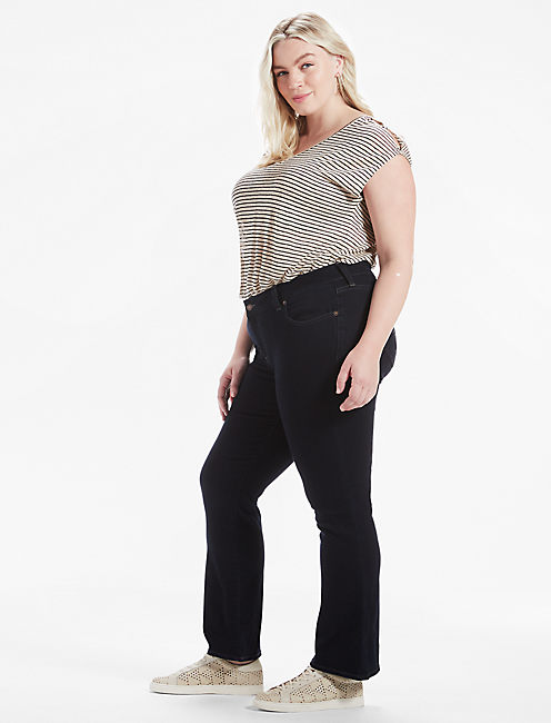 Lucky Plus Size Ginger Petite Bootcut Jean In Sierra
