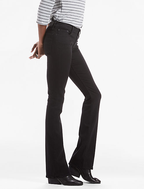 Lolita Mid Rise Bootcut Jean In Black Amber by Lucky Brand