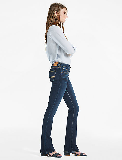 Lucky Charlie Low Rise Mini Bootcut Jean In Serpantine