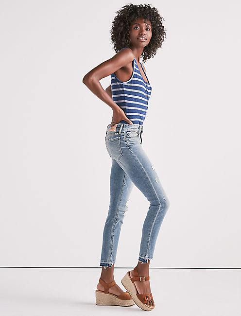 Lucky Ava Mid Rise Skinny Jean In Summit