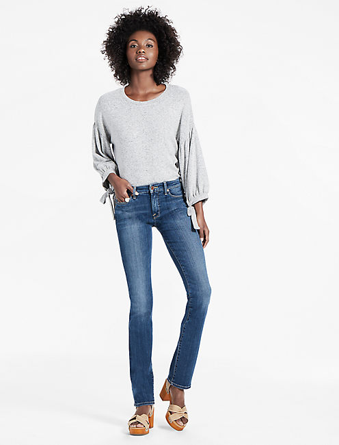 HAYDEN HIGH RISE SCULPTING STRAIGHT LEG JEAN IN COROLLA, COROLLA