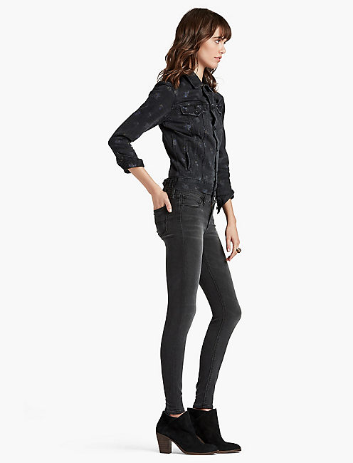 Lucky Brooke Mid Rise Legging Jean In Storm Surge