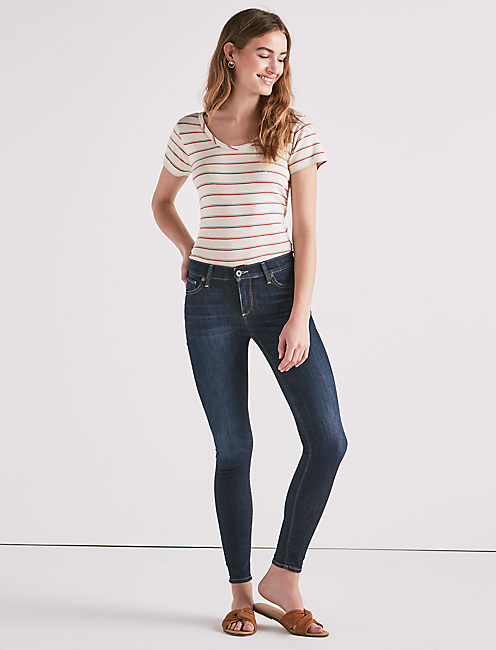 Lucky Brooke Mid Rise Legging Jean In Indigo Lane