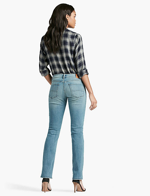 SWEET MID RISE STRAIGHT LEG JEAN IN REFLECTION,