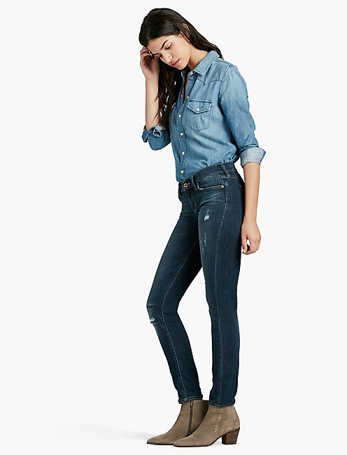 Lucky Sofia Mid Rise Skinny Jean In Reflecting Pool