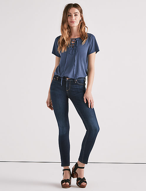 LOLITA SKINNY JEAN IN TWILIGHT BLUE,