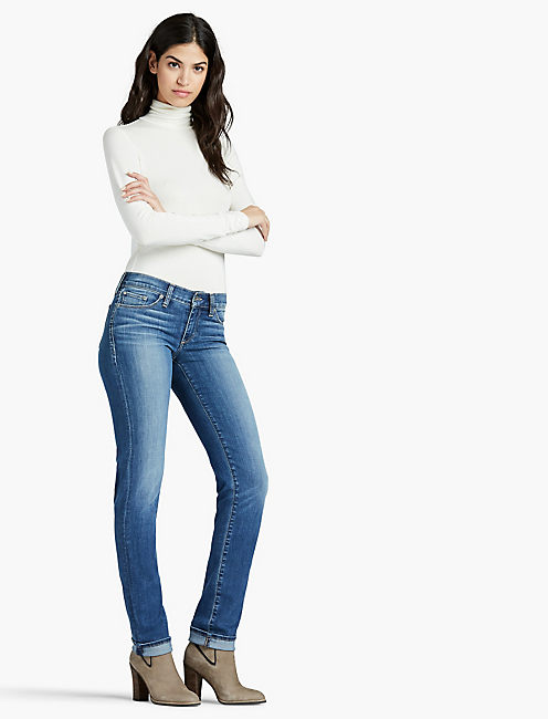 Lucky Sweet Straight Leg Jean In Faultless