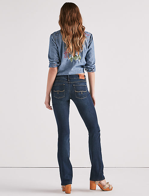 LOLITA MID RISE BOOTCUT JEAN IN SAND HILL,
