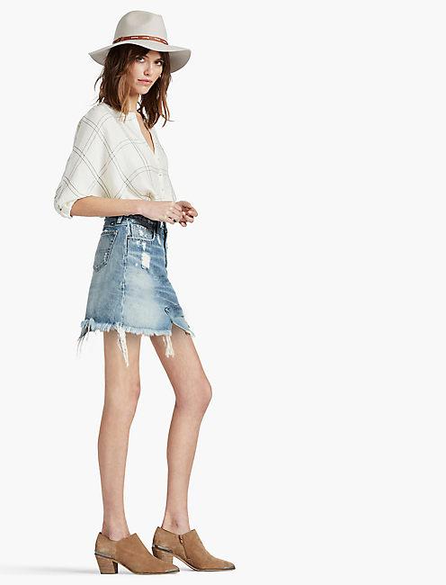 Lucky Old Favorite Denim Mini Skirt In Azle