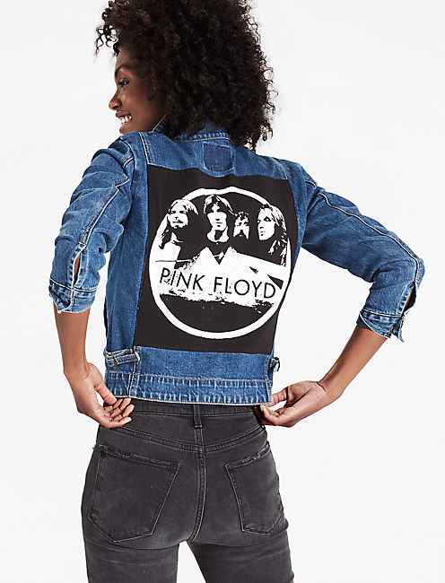 REWORKED PINK FLOYD DENIM JACKET,