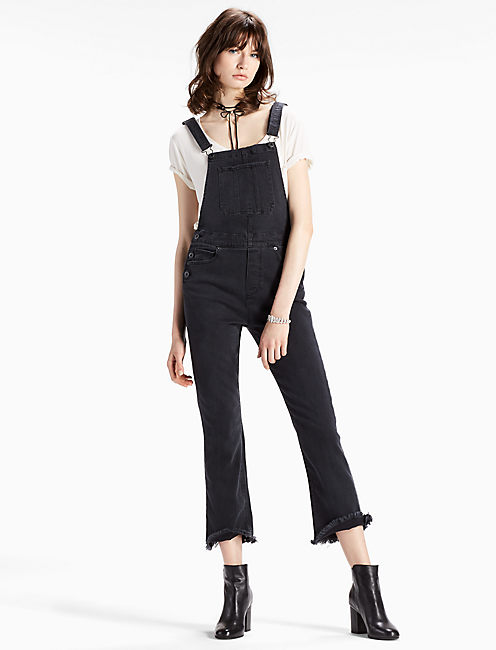 Lucky Bridgette Crop Flare Denim Overall