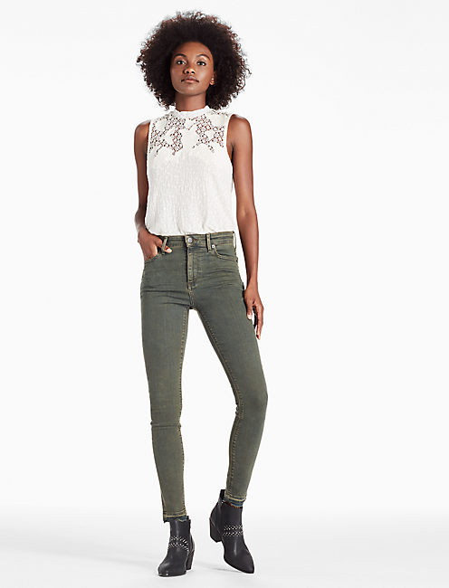 BRIDGETTE HIGH RISE SKINNY JEAN WITH RELEASED HEM,