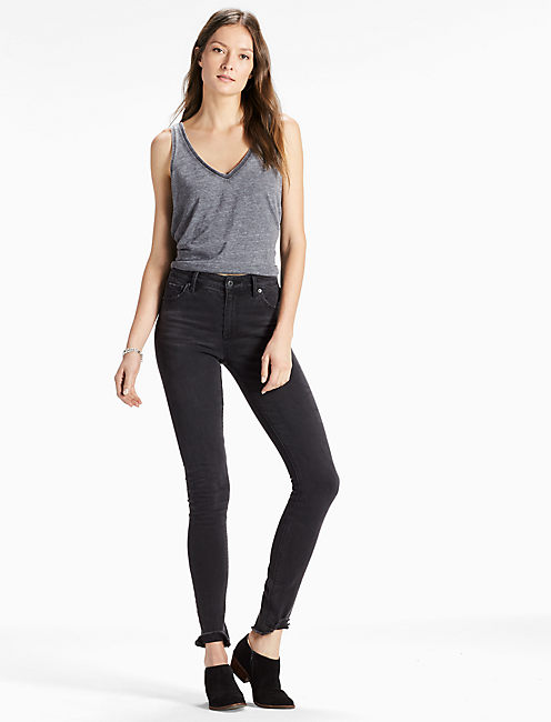 BRIDGETTE HIGH RISE SKINNY JEAN WITH RAW HEM,