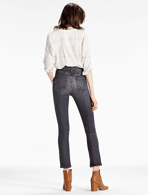 HIGH RISE TOMBOY CROPPED STRAIGHT LEG JEAN WITH SPAT HEM,