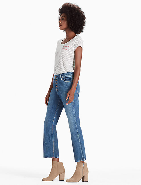 Lucky Bridgette Crop Flare Jean In Astray