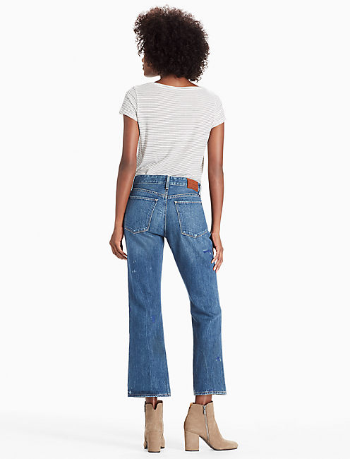 BRIDGETTE CROP FLARE JEAN IN ASTRAY,
