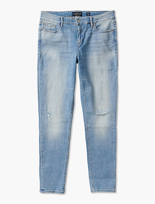 STELLA LOW RISE SKINNY JEAN IN CRYSTAL BAY,