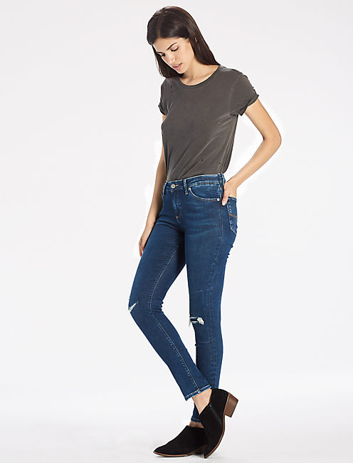 Lucky Lolita Skinny Jean With Side Slit Hem
