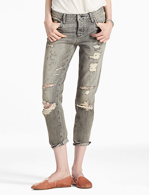 SIENNA MID RISE SLIM BOYFRIEND JEAN IN BARRY, BARRY