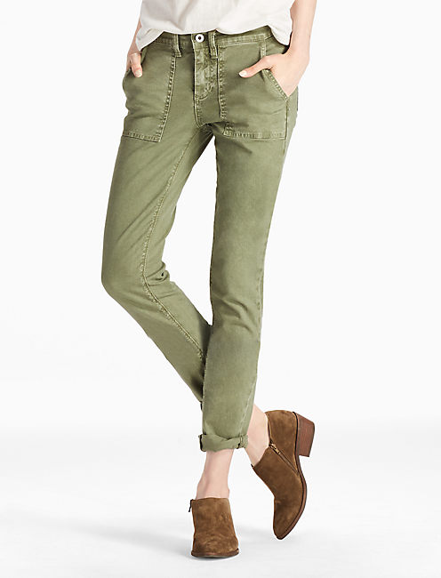 SIENNA MID RISE UTILITY PANT IN ARMY GREEN,