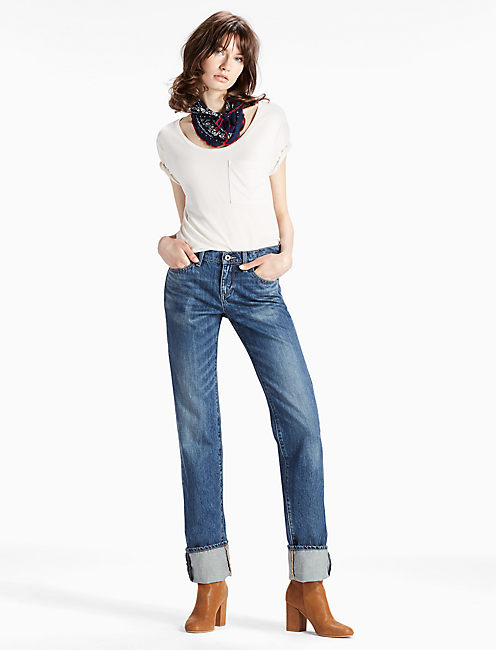 Lucky Easy Rider Mid Rise Relaxed Bootcut Jean In Leon Valley