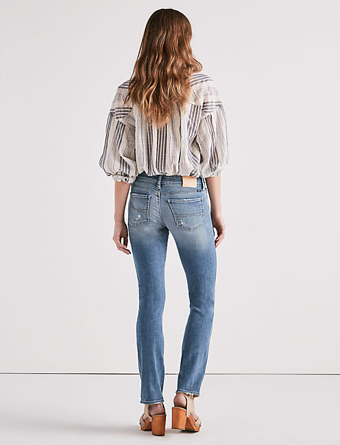 SWEET MID RISE STRAIGHT LEG JEAN IN GRANGER,