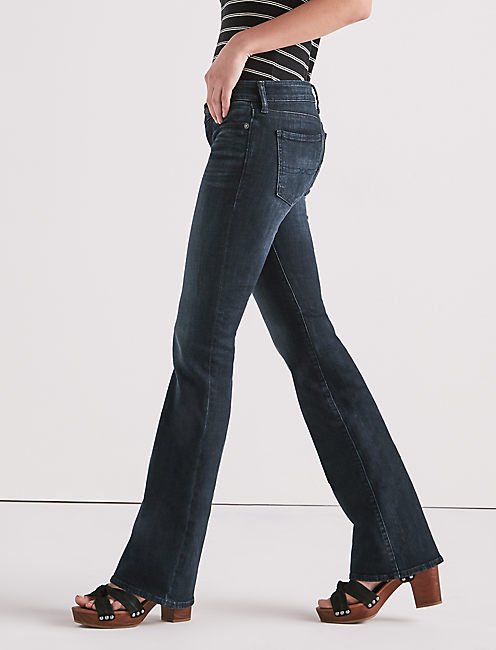LIL MAGGIE LOW RISE FLARE JEAN IN HUXLEY,