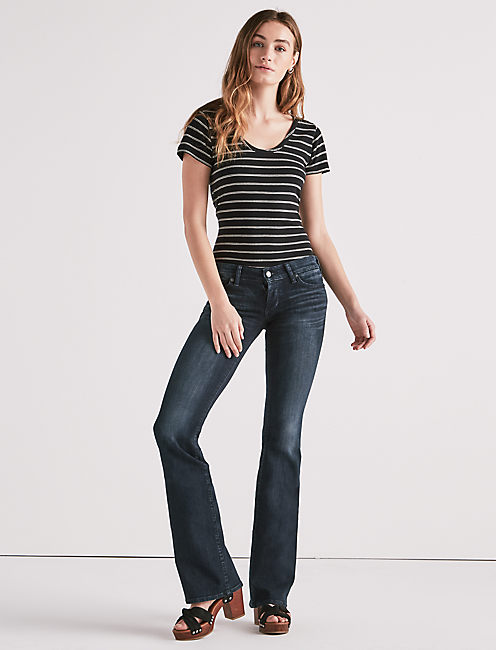 Lucky Lil Maggie Low Rise Flare Jean In Huxley