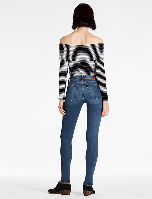 AVA MID RISE SKINNY JEAN WITH STEP HEM,