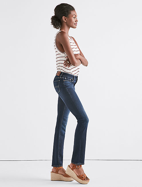 Lucky Sweet Straight Leg Jean In Twilight Blue