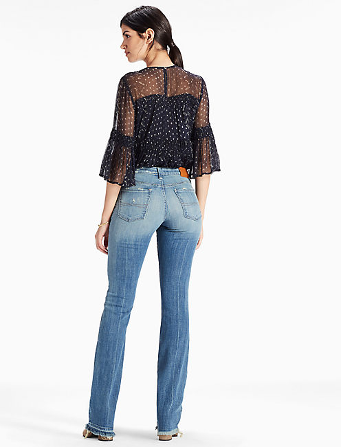 SWEET MID RISE RELEASED HEM BOOTCUT JEAN,