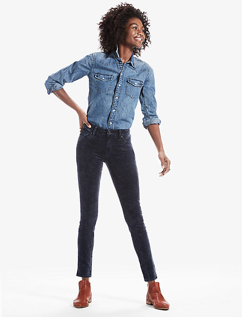 BROOKE SUPER SKINNY JEAN IN BLUE VELVET, AZTEC SPRINGS