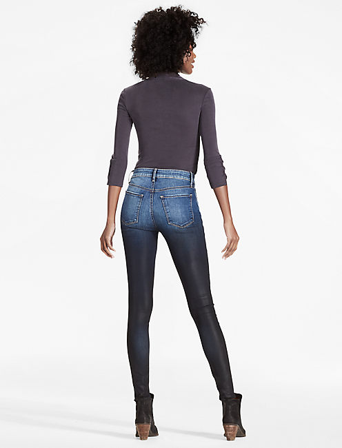BRIDGETTE HIGH RISE SKINNY JEAN IN COATED OMBRE,
