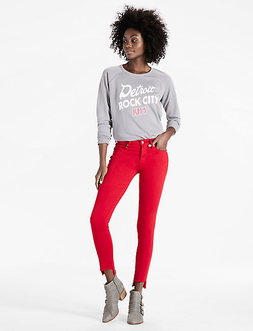 AVA MID RISE SKINNY JEAN, STEP FRAY RIO RED