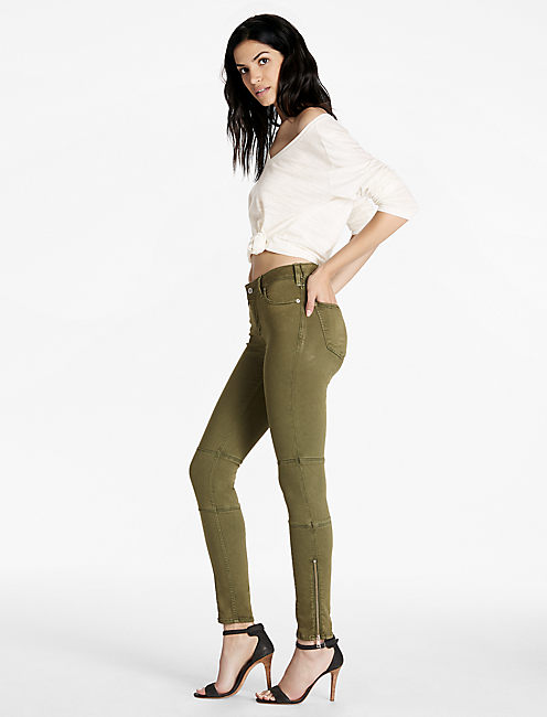 Lucky Sasha Super Skinny Jean With Ankle Zipper