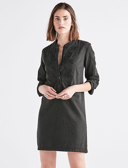 Denim Popover Dress by Lucky Brand