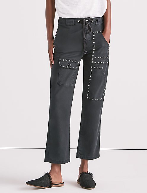 CARGO PANT WITH EYELETS, BALTIC