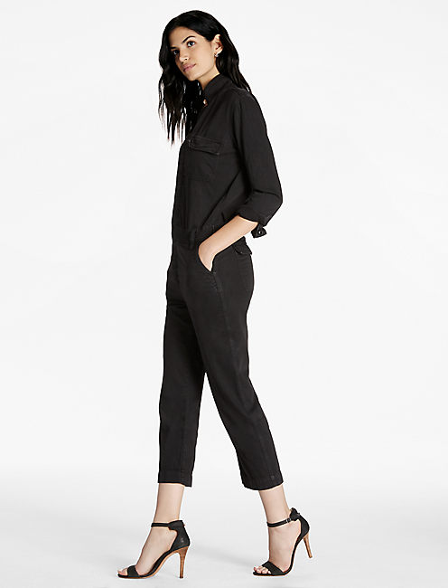 Lucky Black Denim Boilersuit In Belice
