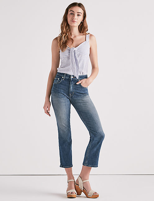 Lucky Lucky Pins High Rise Cropped Jean