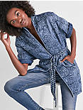 FLORAL QUILTED KIMONO,