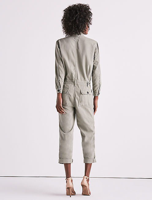 BOILERSUIT IN SAGE,